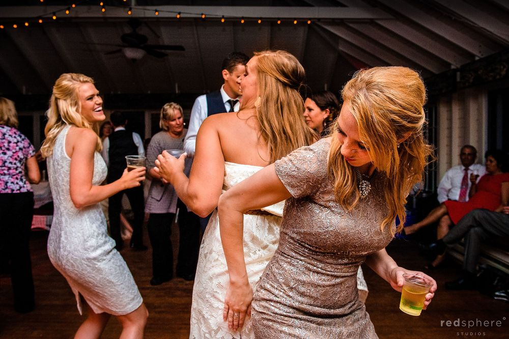 Maid of Honor Drinking and Dancing