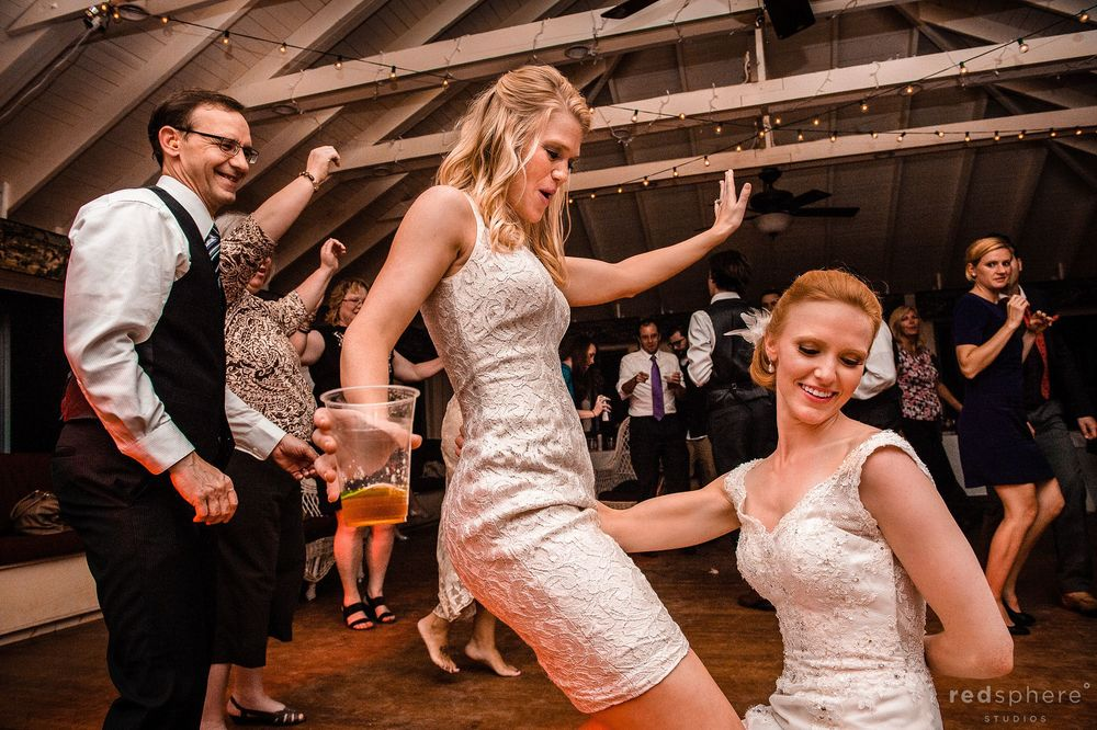 Bride Dancing With Some Friends