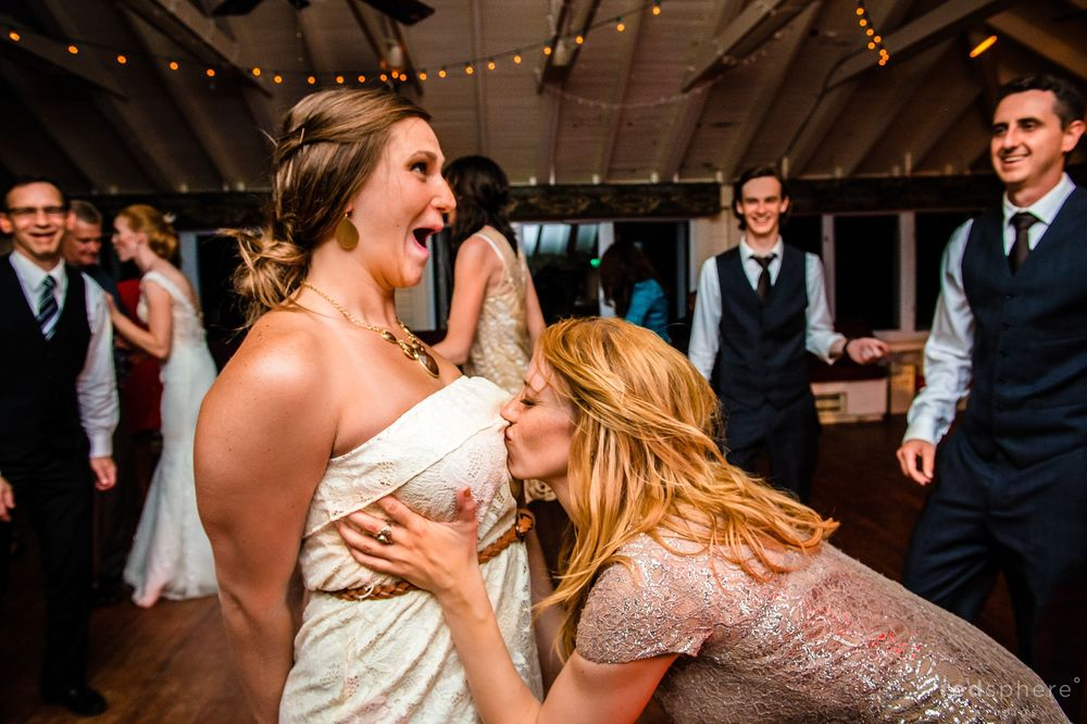 Showing Guest Some Love with Bride in Background
