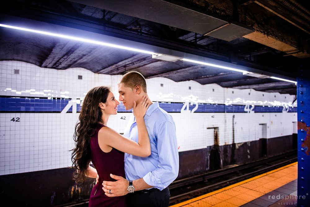 Engagement in New York City Subway Station