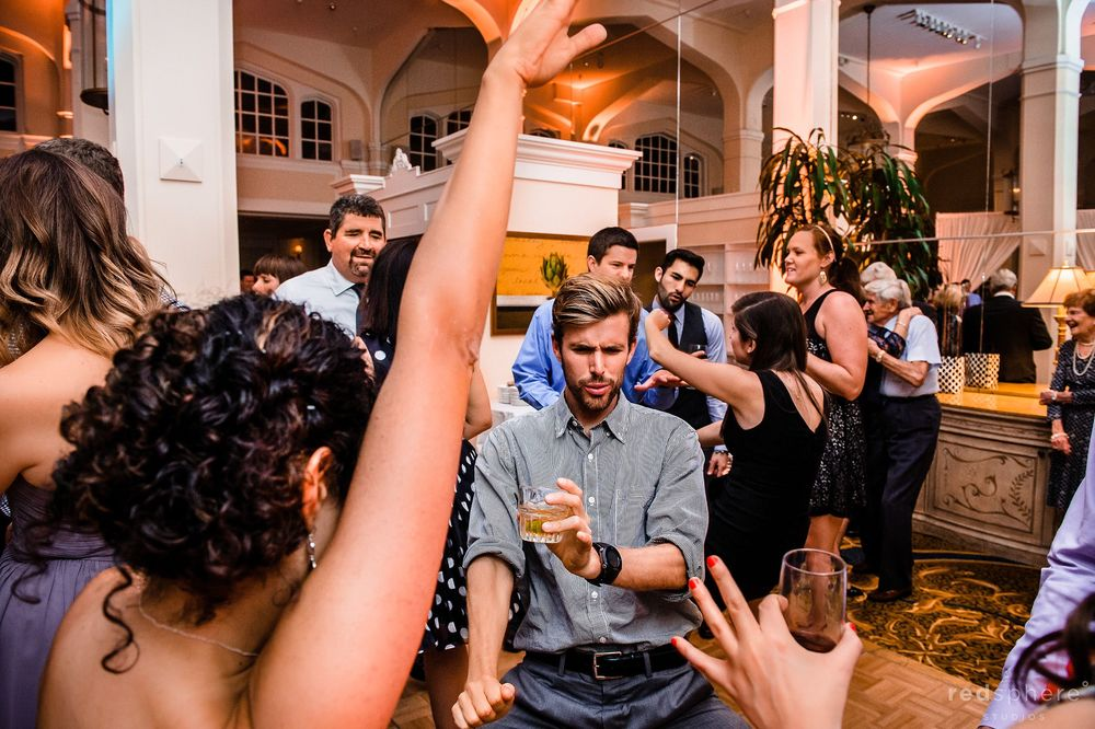 Guests Dancing at Claremont Hotel Club & Spa Wedding Reception