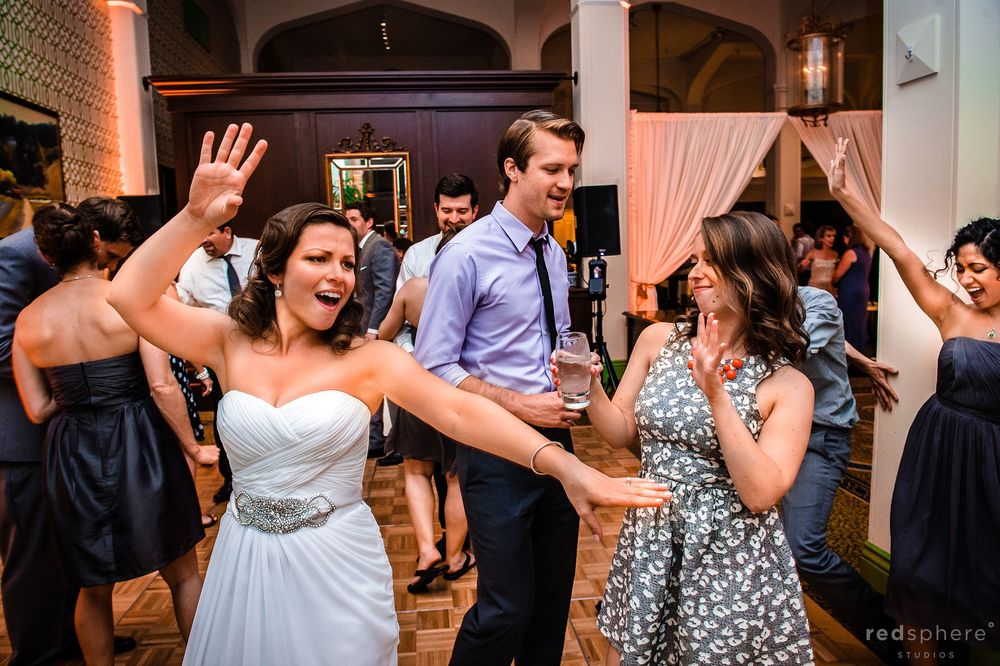 Bride Dancing With her Friends at Claremont Hotel Club & Spa