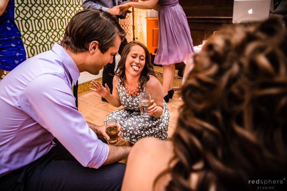 Guests Acting Silly and Playful at Berkeley Wedding After Party