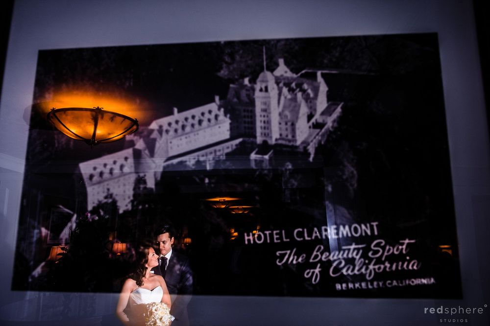 Hotel Claremont Wedding Reflection Picture