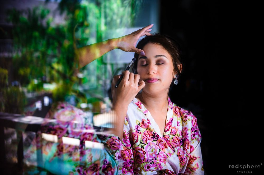 Bride Getting Eye Makeup Done