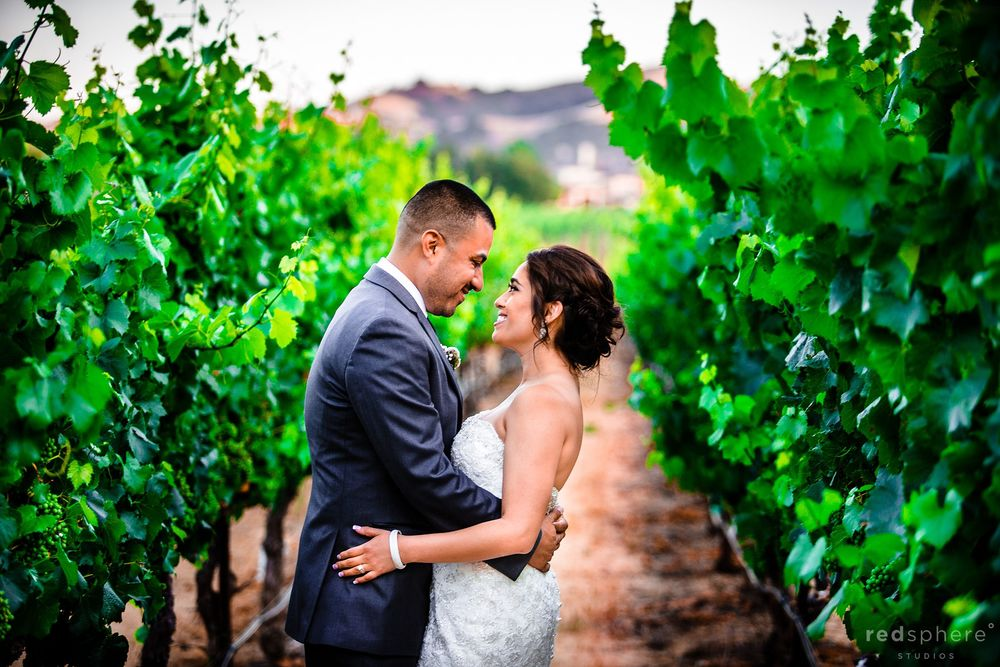 Bride and Groom Enjoying Each Others Company at Palm Event Center Pleasanton