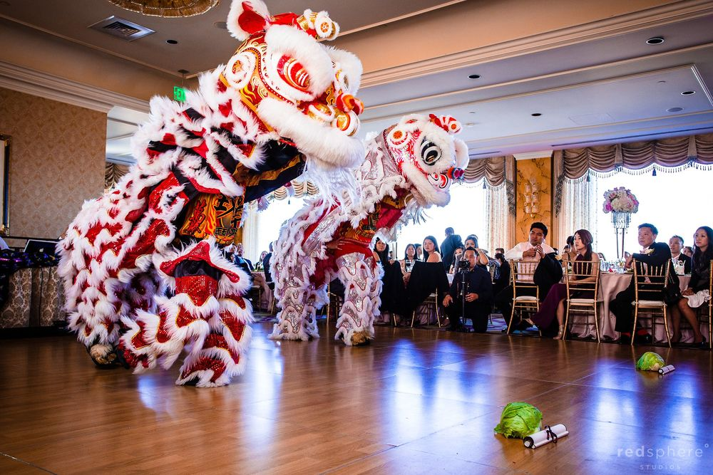 Traditional Lion Dance at Wedding, Fairmont Hotel