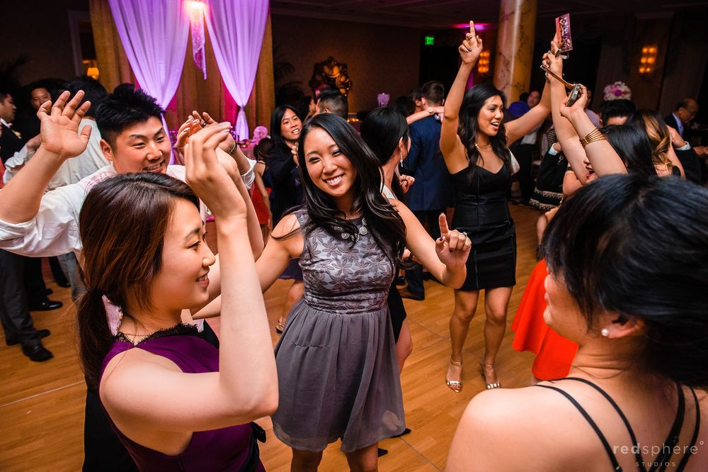 Friends and Family Swaying With the Music at Fairmont Wedding After Party