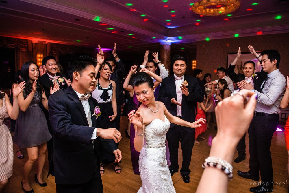 Bride Shows Groom her Dance Moves, Dance Party at Fairmont Hotel Wedding