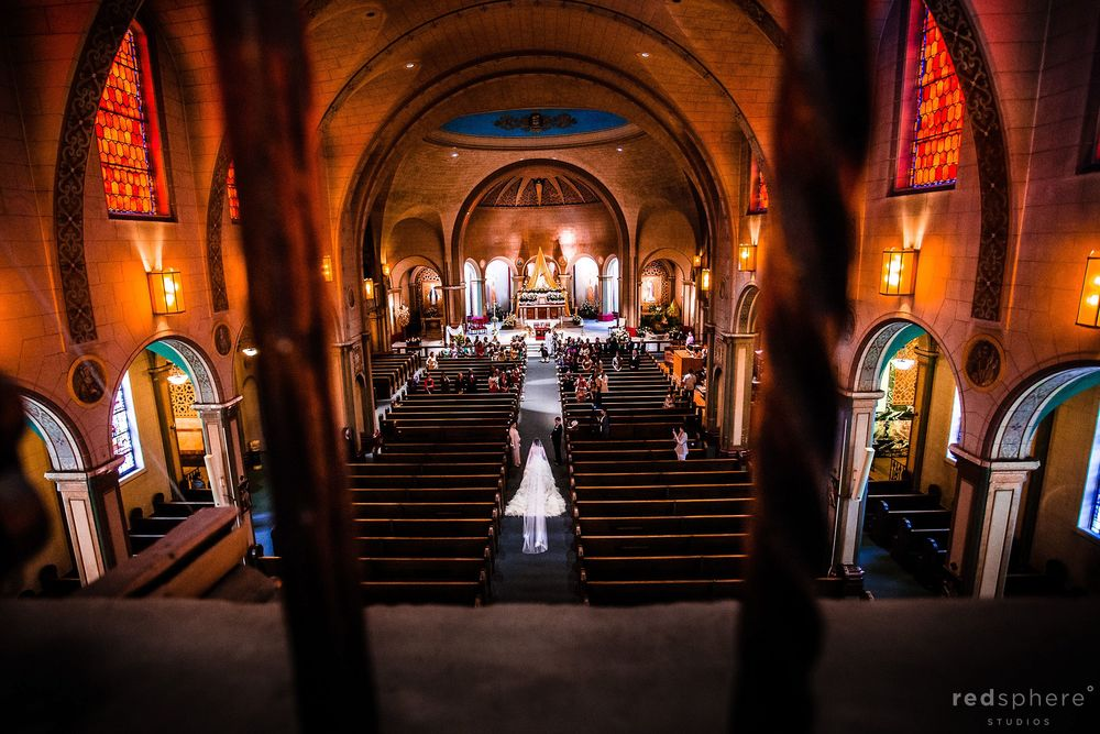 Bride Walking Down the Aisle, at Mission Dolores Basilica & Dominic's