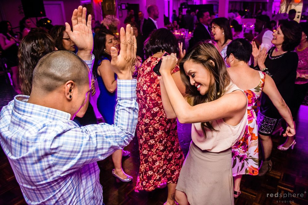 Guests Gather and Dance at Wedding Reception