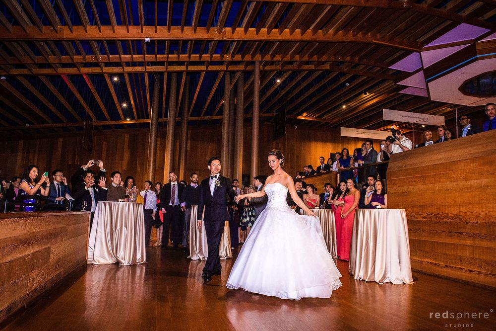 Newly Wed Bride and Groom Take The Dance Floor