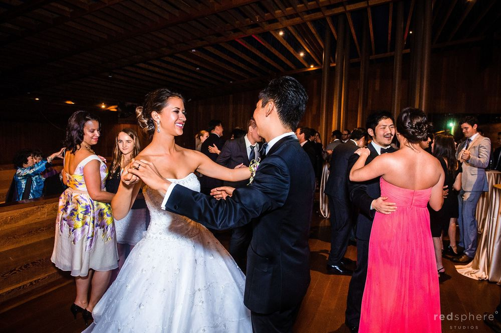 Bride and Groom Partner Dance, Guests Dancing