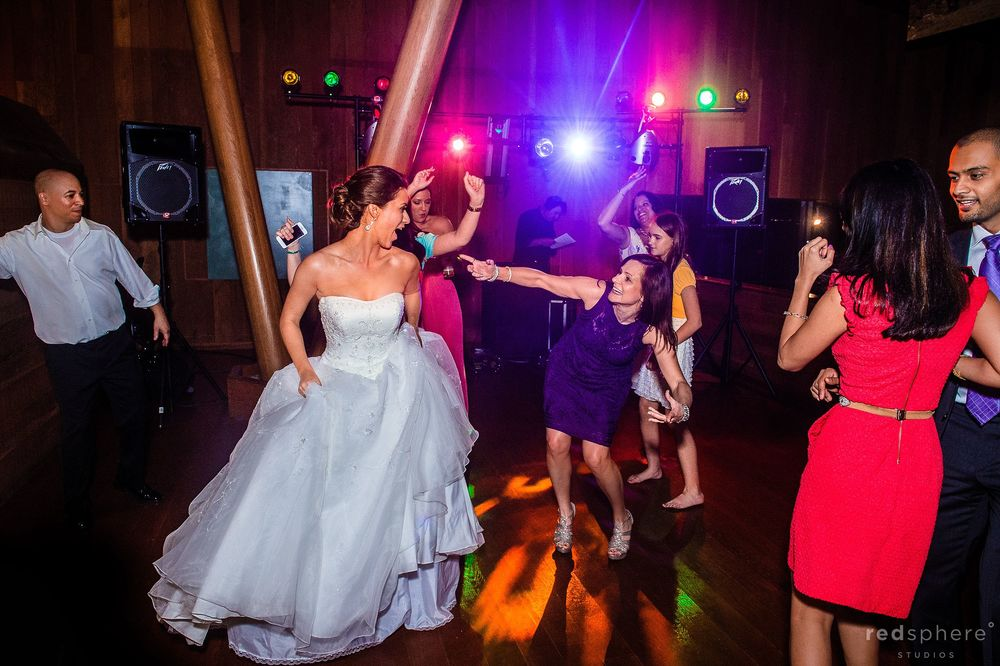 Bride Dancing With Close Friend on Party Dance Floor