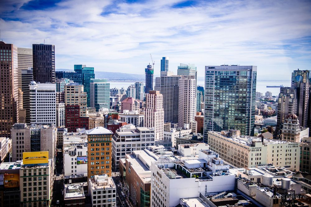 San Francisco Wedding Shoot, Westin St. Francis Hotel View