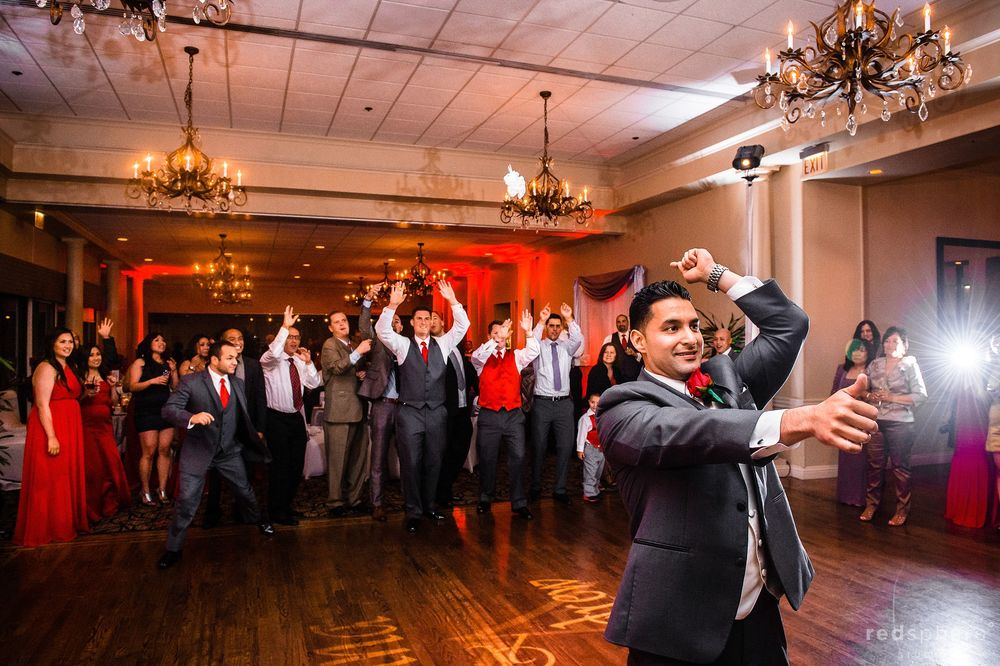 Newly Wed Groom Takes On The Dance Floor at Crow Canyon Country Club, Danville, CA Wedding Reception
