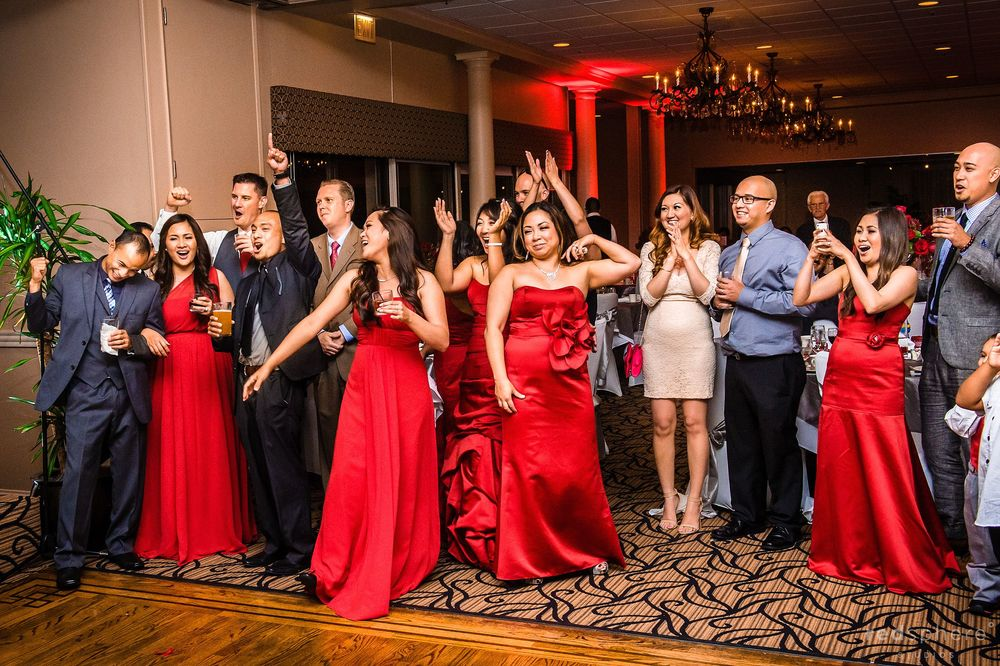 Bridesmaids' and Groomsmen Working Their Way To The Dance Floor, Crow Canyon Country Club