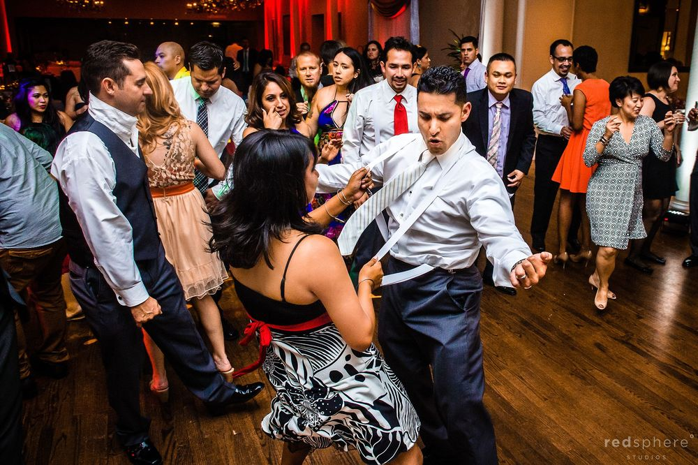 More Guests Doing Funny Dance Moves, Crow Canyon Country Club Wedding Reception