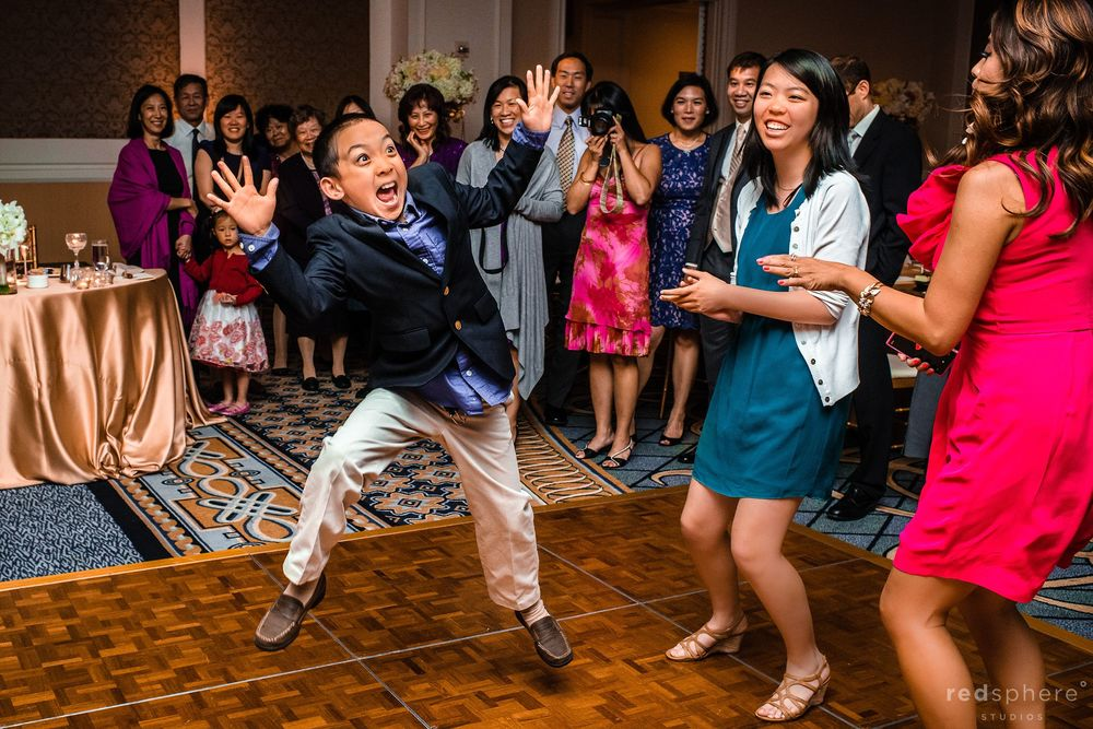 Little Kid Shows His Silly and Creative Side On Dance Floor