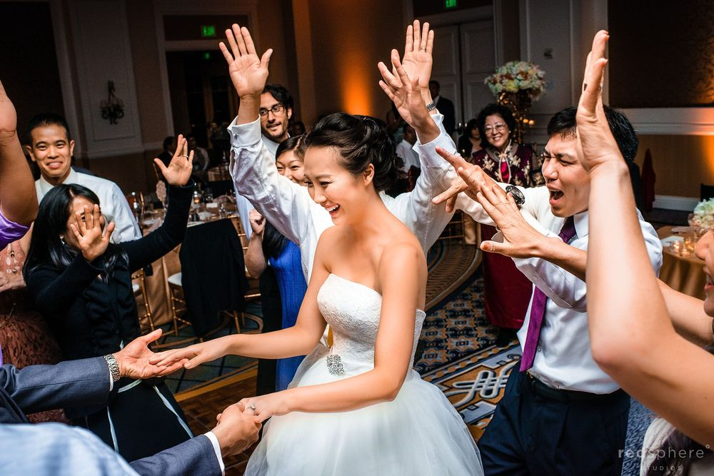 Bride Playing Hand Games With Groom, Family Traditions