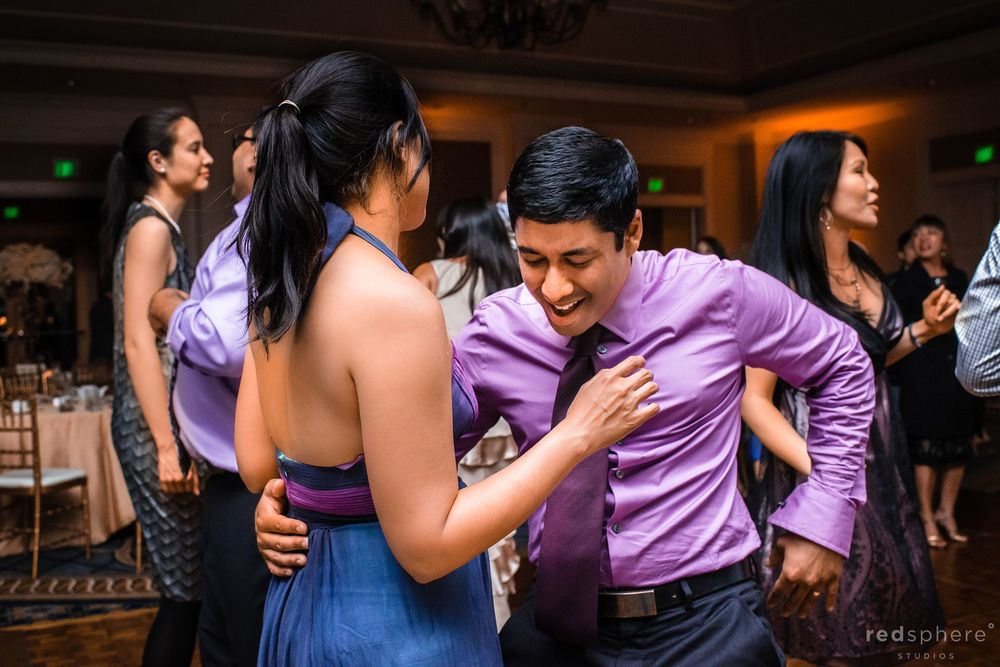 Close Friends of Newly Wed Couple Dance