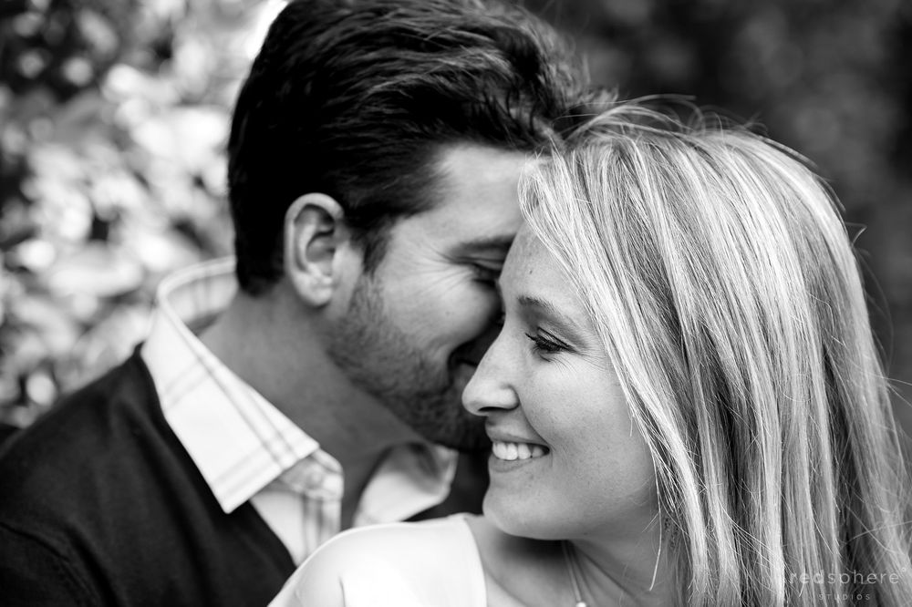 Black and White Affection at Sonoma Engagement