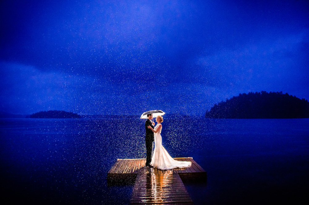 Katrina & Cory's Wedding Chapel Island. Saranac Lake, NY