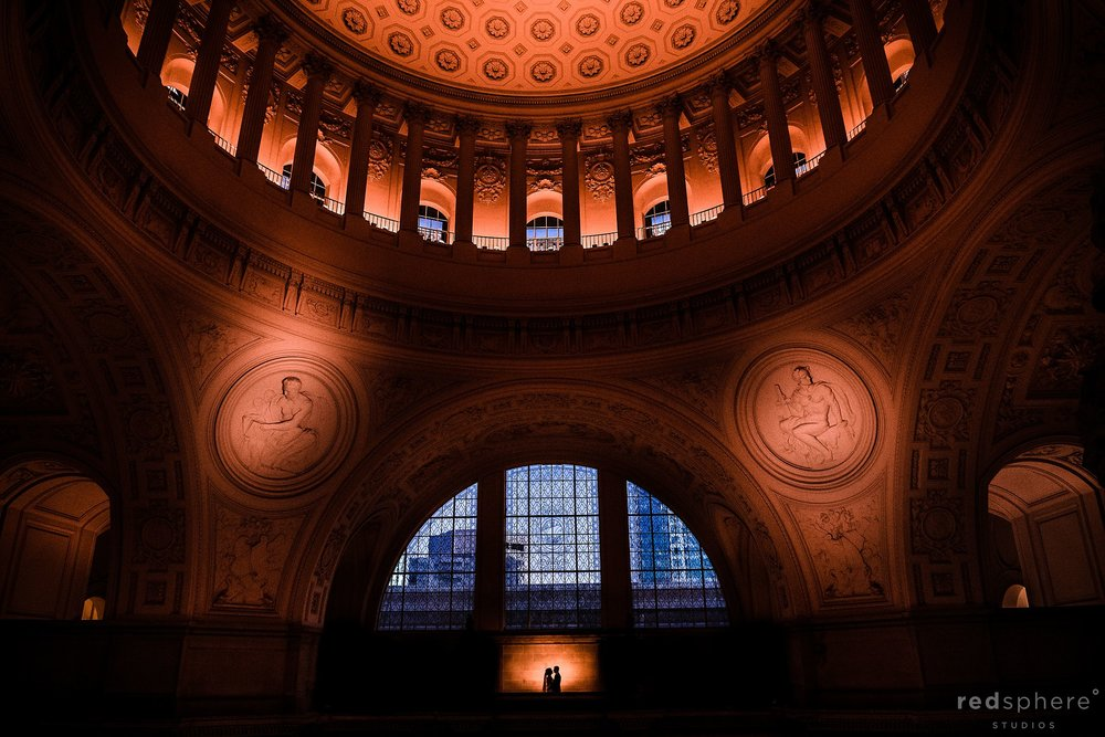 san francisco city hall wedding portrait