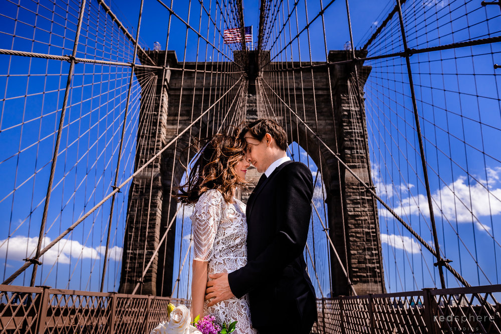 Brooklyn Bridge Wedding Photos in New York City