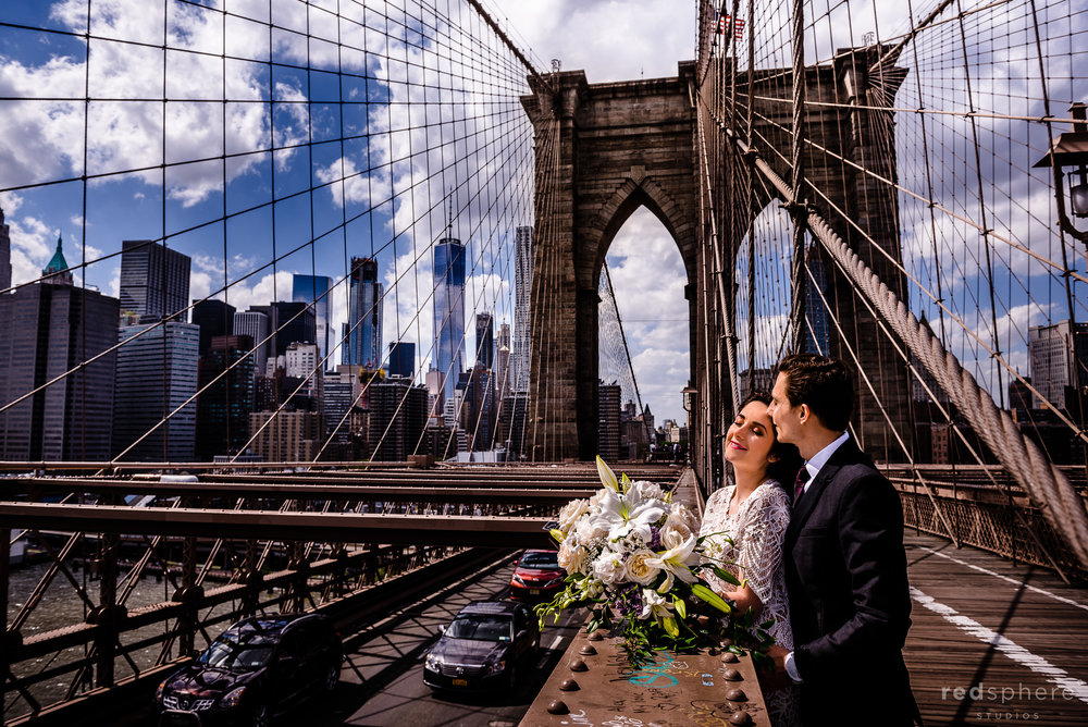 Brooklyn Bridge Wedding Photos in New York City (NYC)
