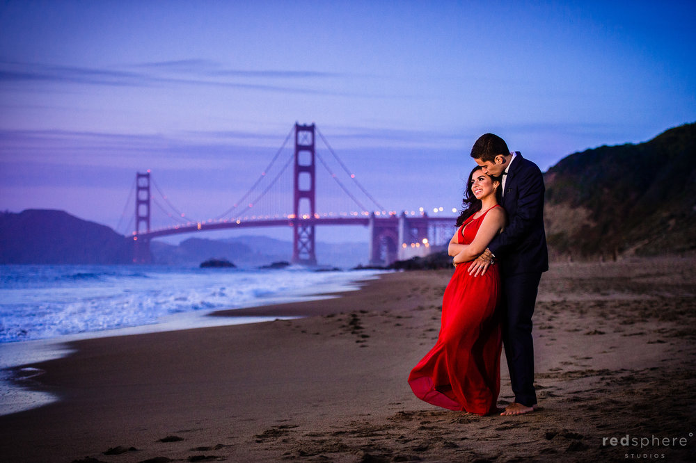 Engagement at San Francisco's Baker Beach