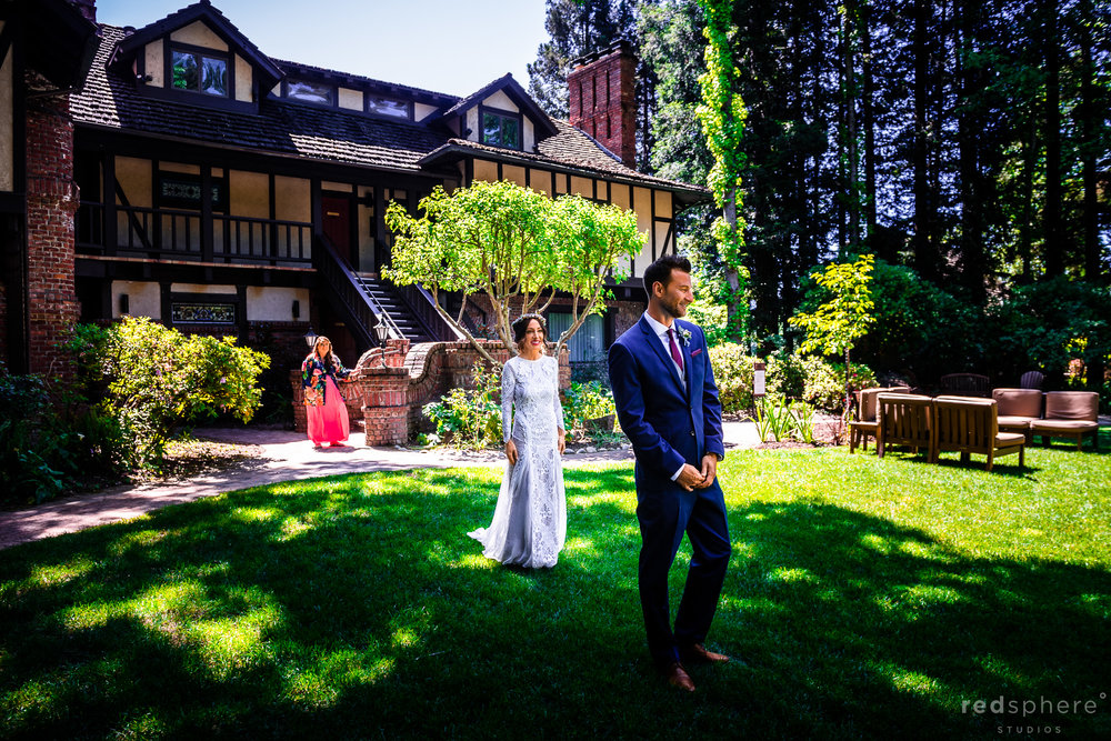 first look wedding at Harvest Inn By Charlie Palmer, St. Helena, Napa Valley