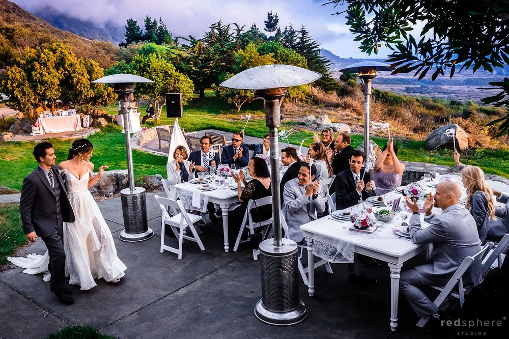Big Sur wedding reception