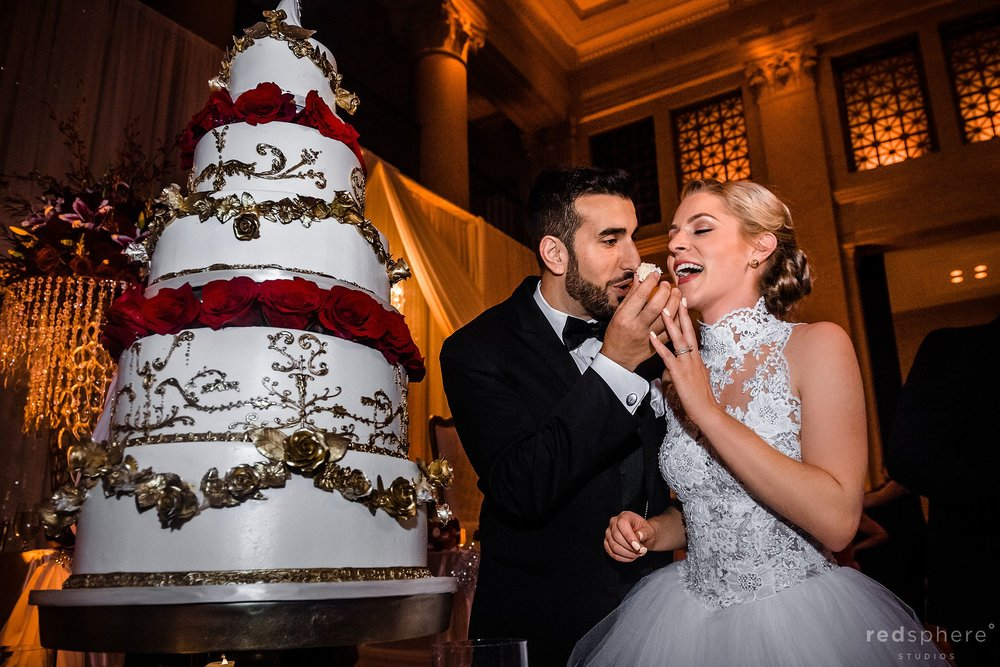 San Francisco Wedding at the Bently Reserve. Cake Cutting