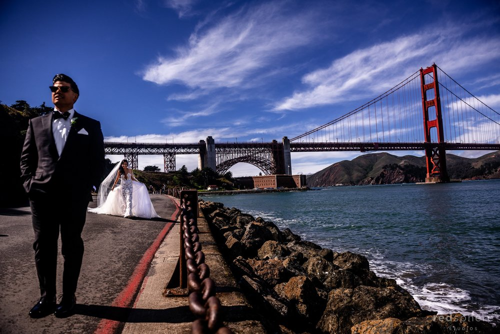 San Francisco Golden Gate Bridge Wedding