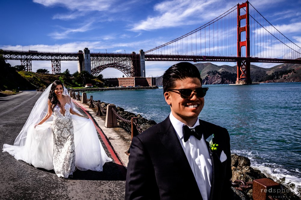 Fort Mason Golden Gate Bridge San Francisco Wedding