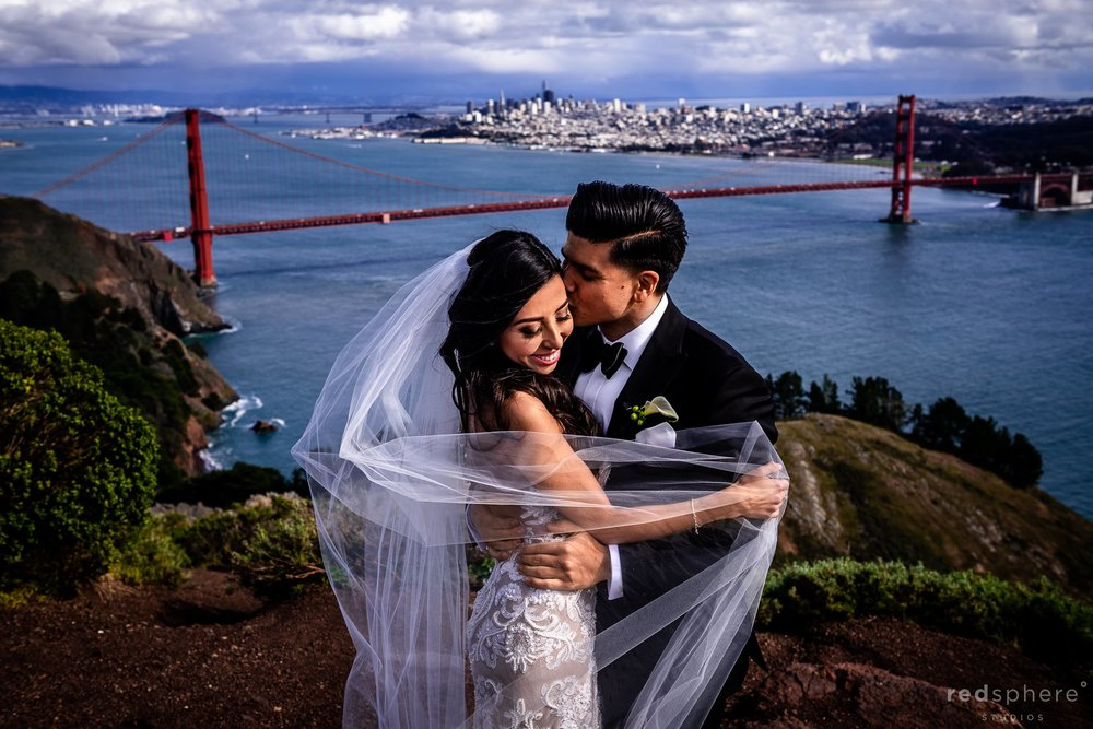 San Francisco Wedding Golden Gate Bridge Marin Headlands