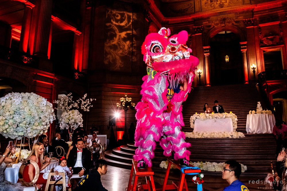 Lion Dance wedding at San Francisco City Hall