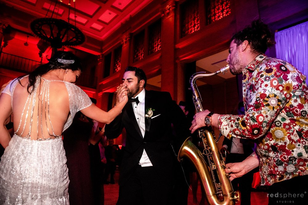 San Francisco Bently Reserve Wedding - Justin Ward saxophone player