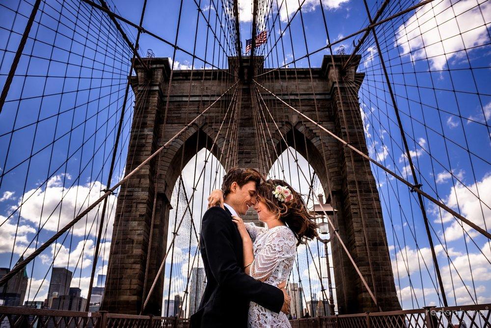 Brooklyn Bridge Wedding in New York City