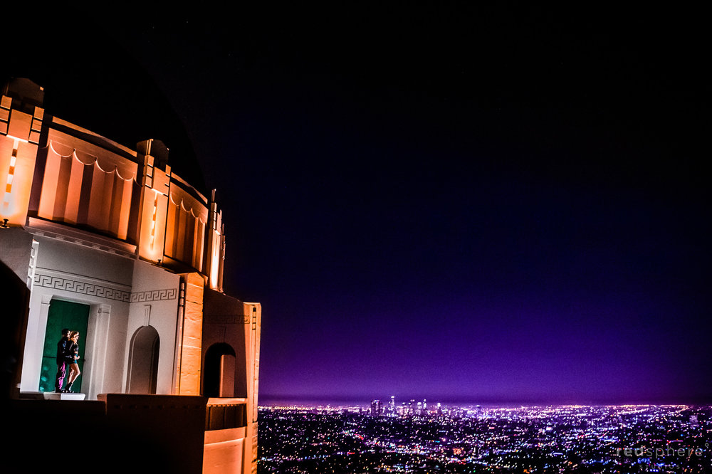 Griffith Observatory Los Angeles La La Land Engagement Session