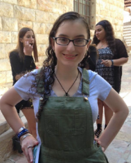 "Rel/Ed Name: Aliza Bromberg Gaber Chapter: BUSY Grade: 12th Favorite Ruach Song: B'Shem Hashem Favorite USY Memory: Nerf gun fight with Bennett during chofesh  Favorite Snack: Popcorn Celebrity Crush: Ryan Gosling Favorite Movie: Inside Out Favorite Catchphrase: ""You got it dude"""