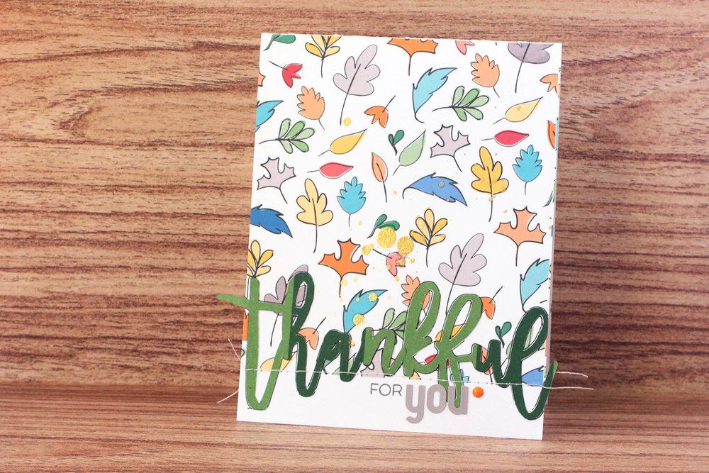 Blogged:  Thankful Card