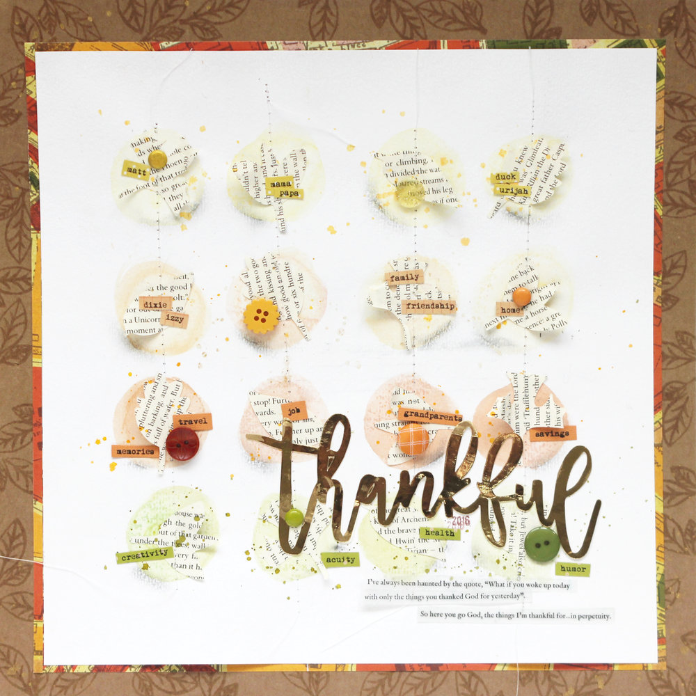 Blogged:  Thankful For...