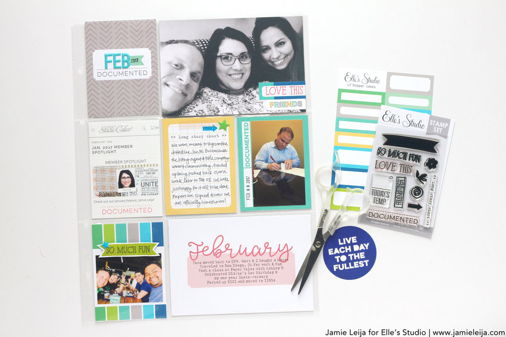 Supplies Used:March 2017 Monthly Kit,File Under Stamp,Date Stickers - Blue & Green,Today Sticker Labels,Sky Blue Puffy Alphabet Stickers,Puffy Star Stickers,Monthly Journaling Tags