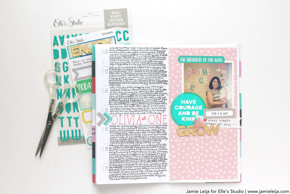 Supplies Used:March 2017 Monthly Kit,Little Moments Paper Collection,March Labels,Today Sticker Labels,Olivia Alphabet Stamps,Spring and Flowers Acrylic,Grow and Bloom Wood Veneer,Vellum Sentiments