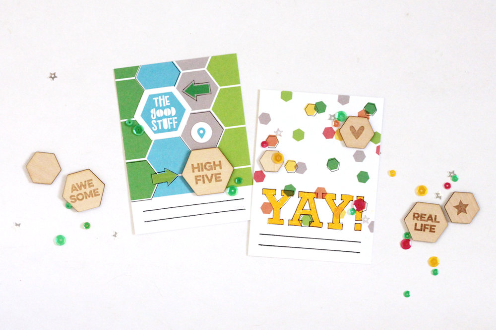 Blogged:  Hexagon Filler Cards