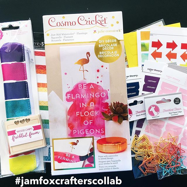 Just a reminder, there a few #jamfoxcrafterscollab prizes up for grabs! If you make a project using one of the challenge prompts you can be entered to win! . To enter for a chance to win 1 of 2 prizes, 1) Share one image of your completed project on Instagram 2) Include the hashtag #jamfoxcrafterscollab 3) We'd love it if you followed us @jamie_makes and @scrappylikeafox. You can enter as many challenges as you  like. Each completed project will get you one entry into the drawing. All projects are due Friday, June 30 by 11:59 CST. Winners will be announced Sunday, July 2. Challenge is open to international participants. This challenge is in no way sponsored, endorsed or administered by Instagram.