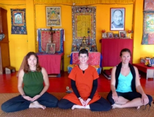 The ornate Gompa Room where the teachings and practice of yoga and meditation happened...