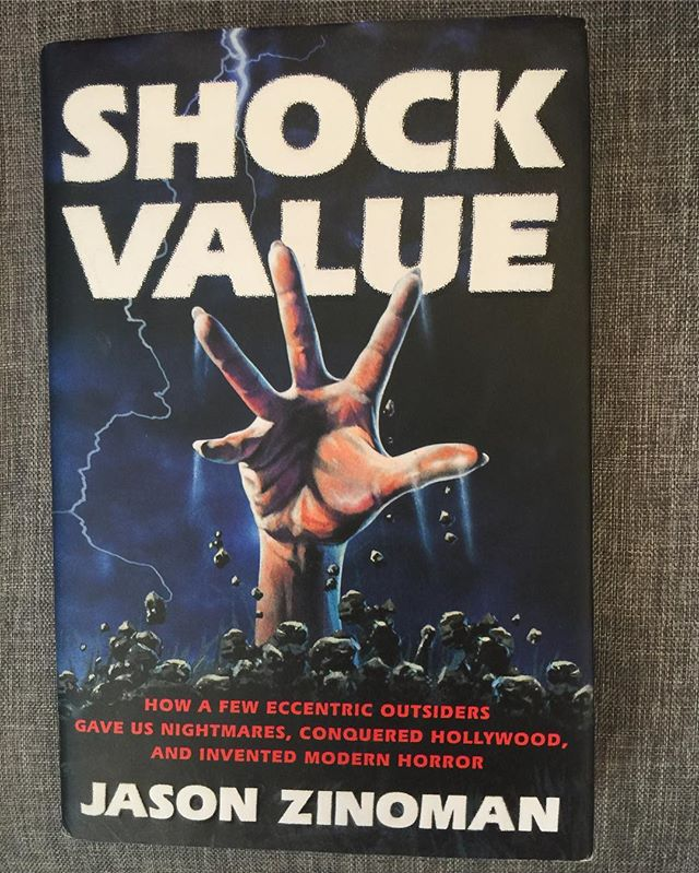 Research for our next episode and required reading for horror fans. Shock Value by Jason Zinoman.